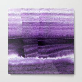 Violet Escape Watercolor Metal Print