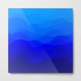 Blue Waves Metal Print