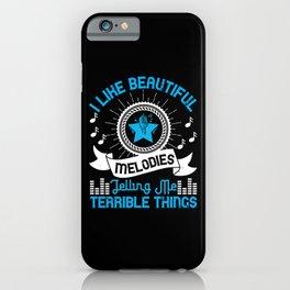 Music - I Like Beautiful Melodies iPhone Case