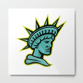 Lady Liberty or Libertas Mascot Metal Print