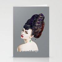 black widow Stationery Cards featuring Black Widow by Daniac Design
