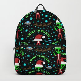 I Want to Believe in Santa Backpack
