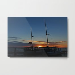 Sunset on the Alondra Metal Print