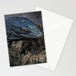 Blue Tree Monitor Lizard Stationery Cards