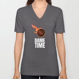 Damian Lillard Dame Time Basketball Unisex V-Neck