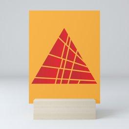 Sliced Red Pyramid Mini Art Print