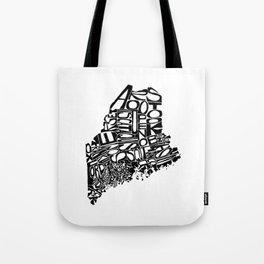 Typographic Maine Tote Bag
