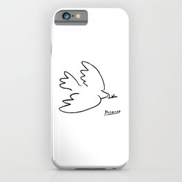 Pablo Picasso Dove of Peace Line Drawing Sketch Artwork for Prints Posters Tshirts Men Women Kids iPhone Case