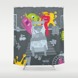 kid and ghosts Shower Curtain