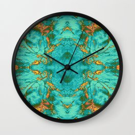fire opal refraction Wall Clock