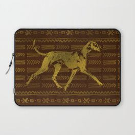 Azawakh Sighthound on African Patern Laptop Sleeve