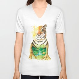The Jungle Unisex V-Neck