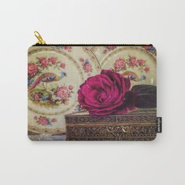 Porcelain Peacock Carry-All Pouch