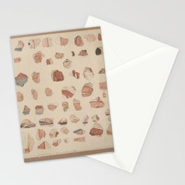 Painted plaster fragments from Amarna, 1930s Stationery Cards