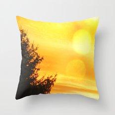 Lemon Sky Throw Pillow