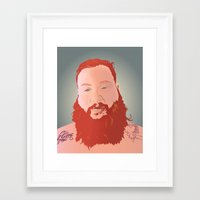 action bronson Framed Art Prints featuring Action Bronson Portrait by Solglo