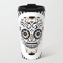 Sugar Skull SF - white Travel Mug