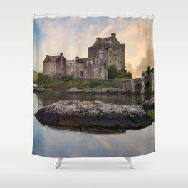 Eilean Donan Castle at sunrise Shower Curtain