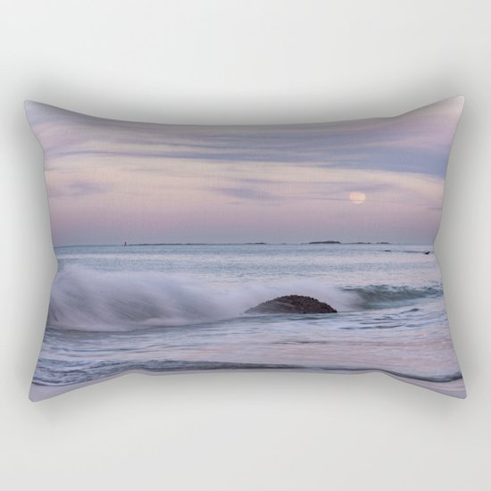 Pastel Ocean Moonrise Rectangular Pillow