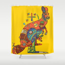 Kangaroo, cool wall art for kids and adults alike Shower Curtain