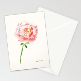 Watercolor Ranunculus Stationery Cards