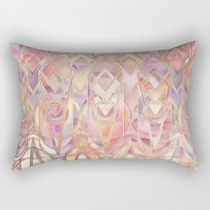 Glowing Coral and Amethyst Art Deco Pattern Rectangular Pillow