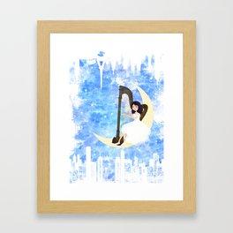 Harp girl 5: Connection Framed Art Print