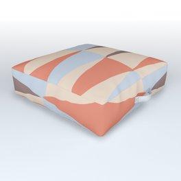 Zaha Blue Retro Outdoor Floor Cushion