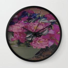 fabulous pink flowers Wall Clock