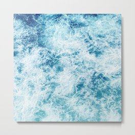 Sea ocean storm waves Metal Print