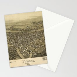 Aerial View of Tyrone, Pennsylvania (1895) Stationery Cards