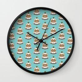 Bavarian mountain bears Wall Clock