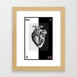 Heart Of Gold Framed Art Print
