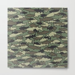 Fish Camo JUNGLE Metal Print