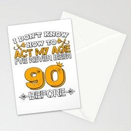 Birthday Present 90 Years Birthday Ninety Born 1928 Stationery Cards