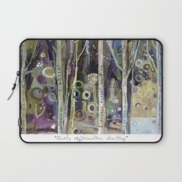 Daily Affirmation Mantra Laptop Sleeve
