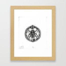 The Wheel of Reincarnation Framed Art Print