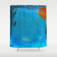 earth Shower Curtains featuring Earth by Fernando Vieira