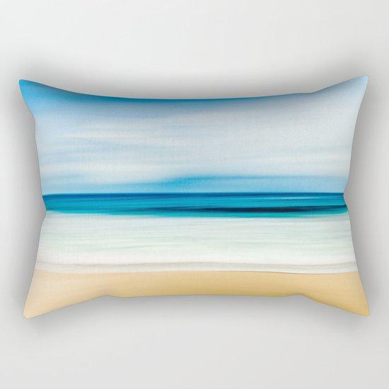 Blurred Beach Rectangular Pillow