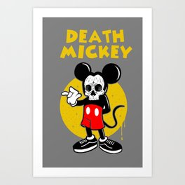 death mickey Art Print