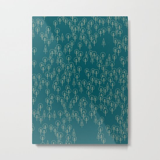 Geometric Woods Ver. 2 Metal Print