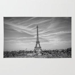 PARIS Eiffel Tower with skyline | monochrome Rug