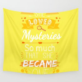 Mystery of Margo - Yellow Wall Tapestry