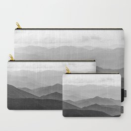 Forest Fade - Black and White Landscape Nature Photography Carry-All Pouch
