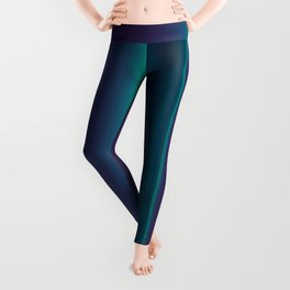 Royal Purple Aqua Stripes Leggings