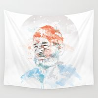 murray Wall Tapestries featuring Bill Murray by I AM DIMITRI