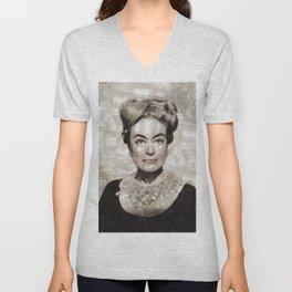 Joan Crawford, Vintage Actress Unisex V-Neck