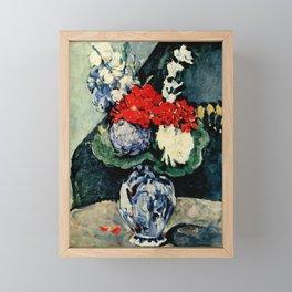 "Paul Cezanne ""Delft vase with flowers"" Framed Mini Art Print"
