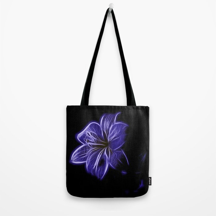 A luminescent flower Tote Bag