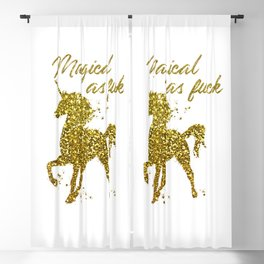 Magical As Fuck, Pretty, Funny, Quote Blackout Curtain